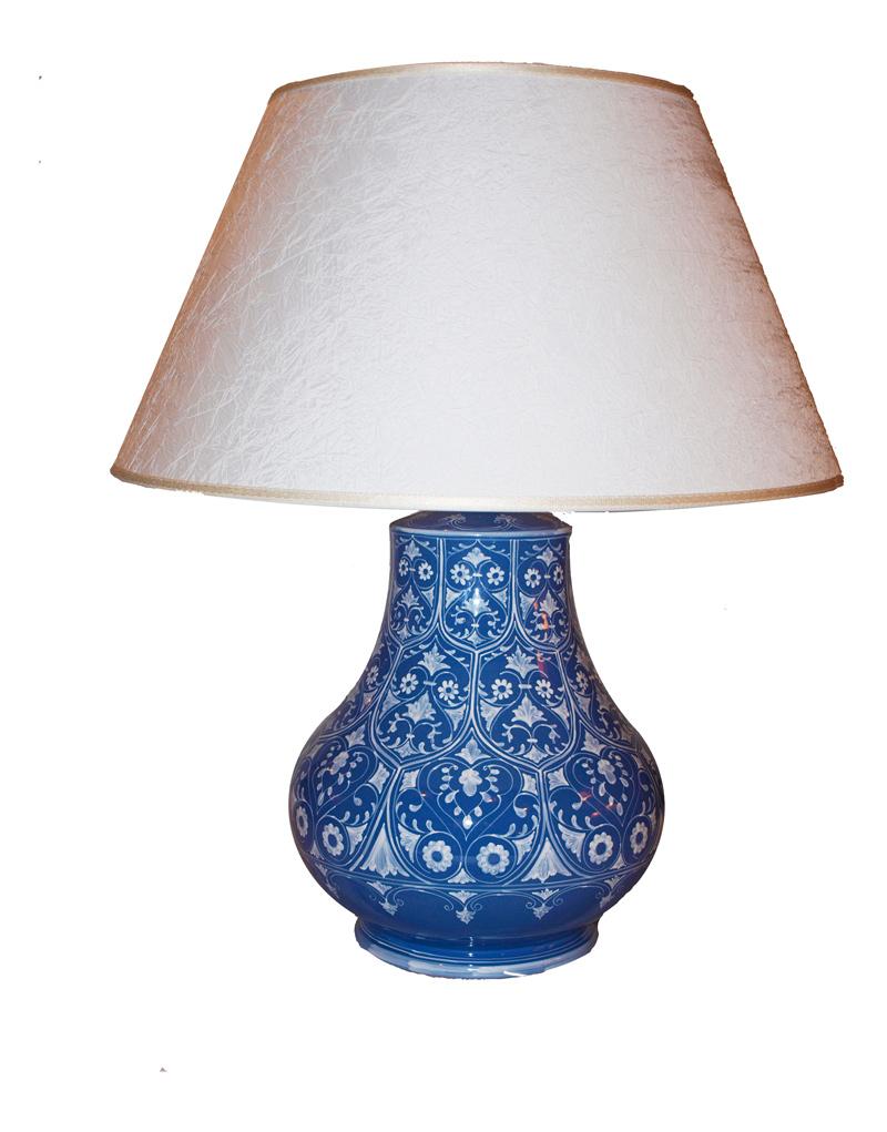La maiolica decorazione artigianale della ceramica ascom pesaro - Lampade da tavolo in ceramica ...