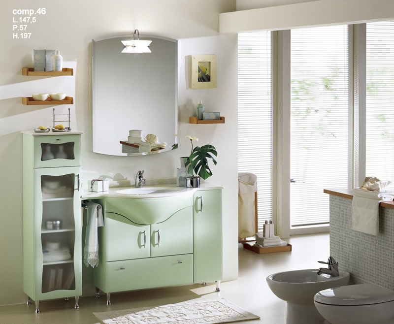Mobile bagno verde acqua wc84 regardsdefemmes for Accessori bagno moderno